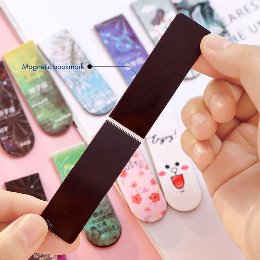 5 Stks/partij Creatieve Magnetische Bladwijzers 20 Pagina 'S Capaciteit Clip Flexibele Magnetische Pagina Markers Leren Kantoor Lezen Briefpapier