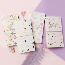Twinkle Spark Faux Leather Journal Traveler Notebook Grid Papers To Do List Diary Girls Stationery Gift