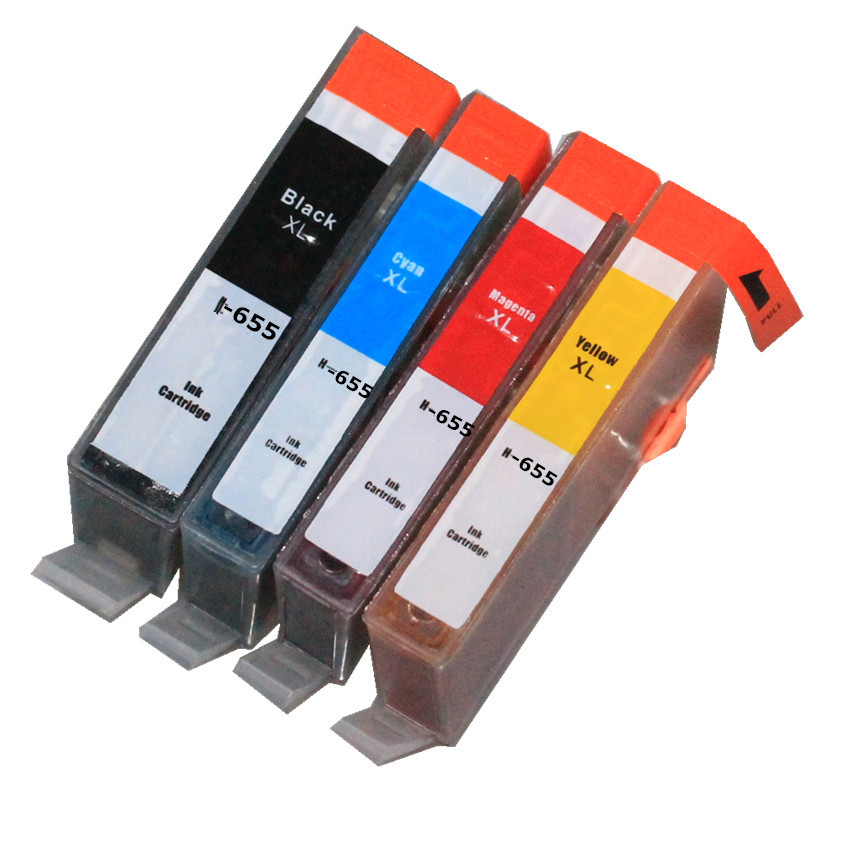 BLOOM compatible for hp 655 XL 655XL ink cartridge For HP Deskjet 3525 4615 4625 5525 6520 6525 Printer with chip image