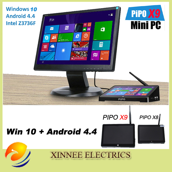 PIPO X9S Windows10 and Android 5.1 Intel Z8350 Quad Core Dual Boot OS Intel Z8350 Quad Core Mini PC 8.9″Tablet Mini PC TV Box