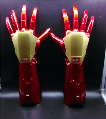 Wearable 1:1 Iron Kids Glow Gloves Laser Cosplay Props Model Toys DC Marvel Superhero Halloween Party Christmas Gift