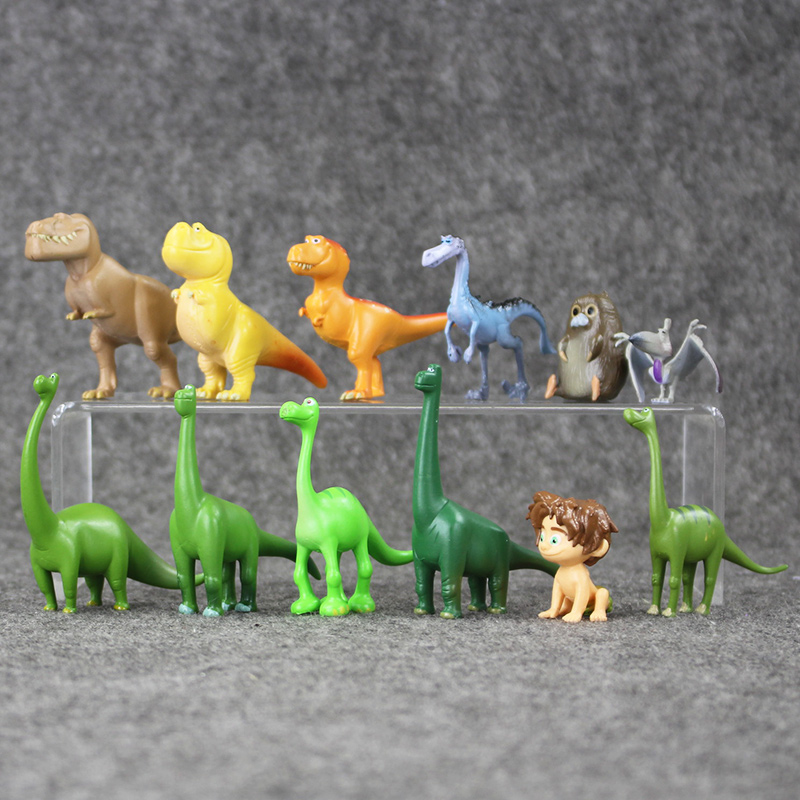 12pcs/lot Dinosaur PVC Figures Arlo Spot Henry Butch Mini Model Toy Brinquedos For Kids