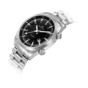Image 2 - Seagull Date Dual Time Zone GMT Luminous Hands ST2130 Movement Automatic Mens Watch 816.582 Black Dial