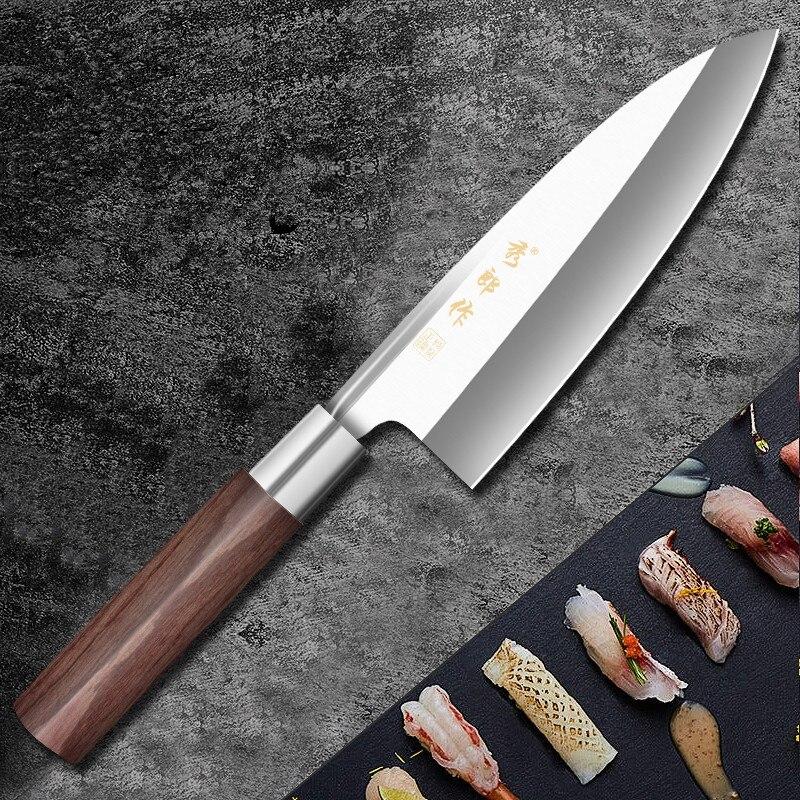 XLZ высококачественный профессиональный нож шеф-повара с ивами из нержавеющей стали, лососевый нож с костяной головкой, острый Филейный Нож ...