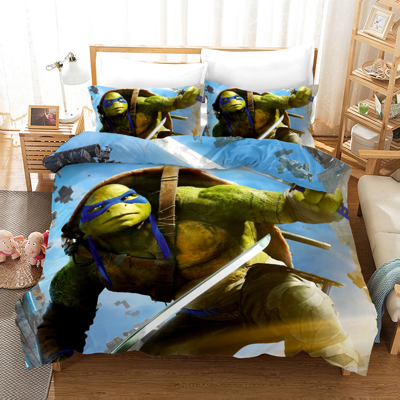 Teenage Mutant Ninja Turtles Bedding Set Duvet Covers Pillowcases Movie Series Comforter Bedding Sets Bedclothes Bed Linen
