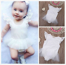 2016 New 0-24M Kids Baby Girls Lace Bodysuit Infant Newborn Clothes Jumpsuit Bodysuit Baby Girl Clothing High Quality