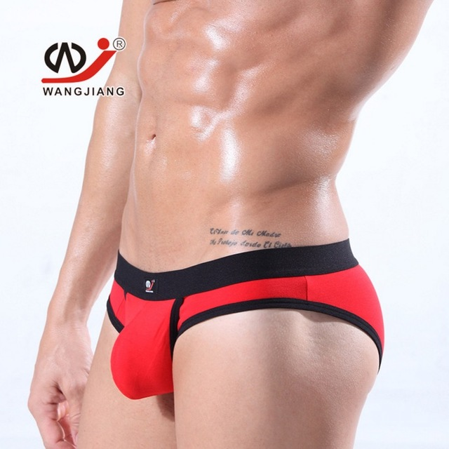 brand clothing Plus size mens briefs sexy cotton briefs hang free pocket men underwear shape cock