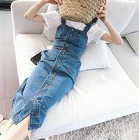 346b65a7bc1a7d 2019 Summer Autumn Women Denim Dress Sundress Female Overalls Dress Vintage Blue  Sexy Bodycon Female Jeans