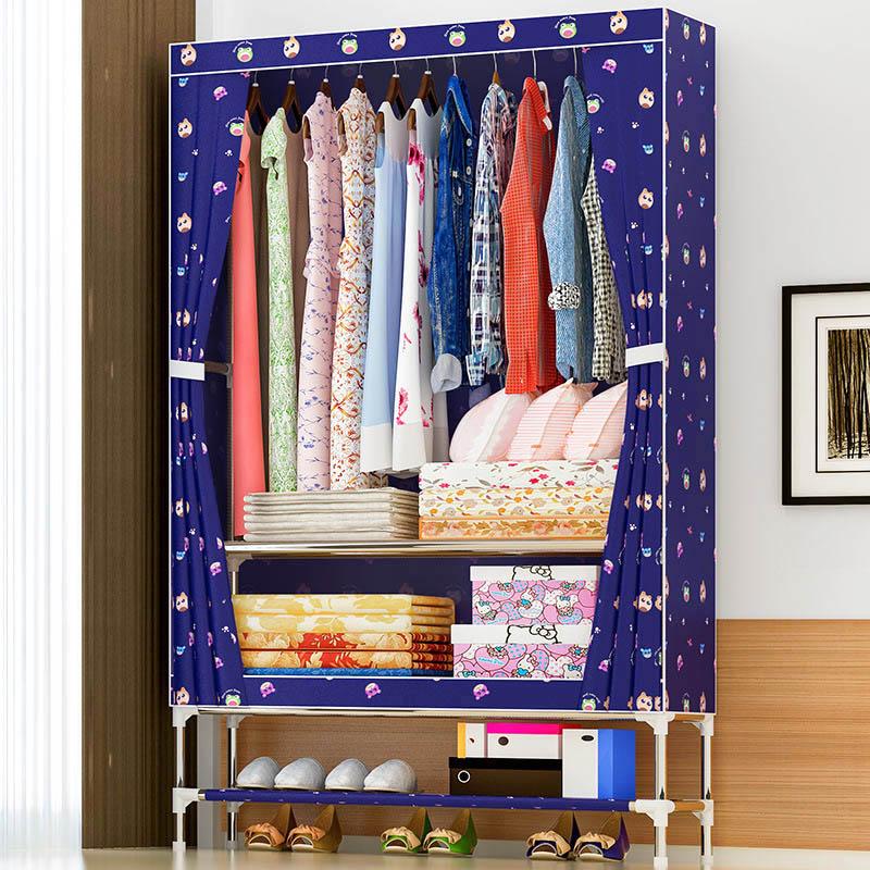 Beautiful simple wardrobe Oxford cloth dust-proof closet Moisture-proof storage cabinet multi-functional storage furniture