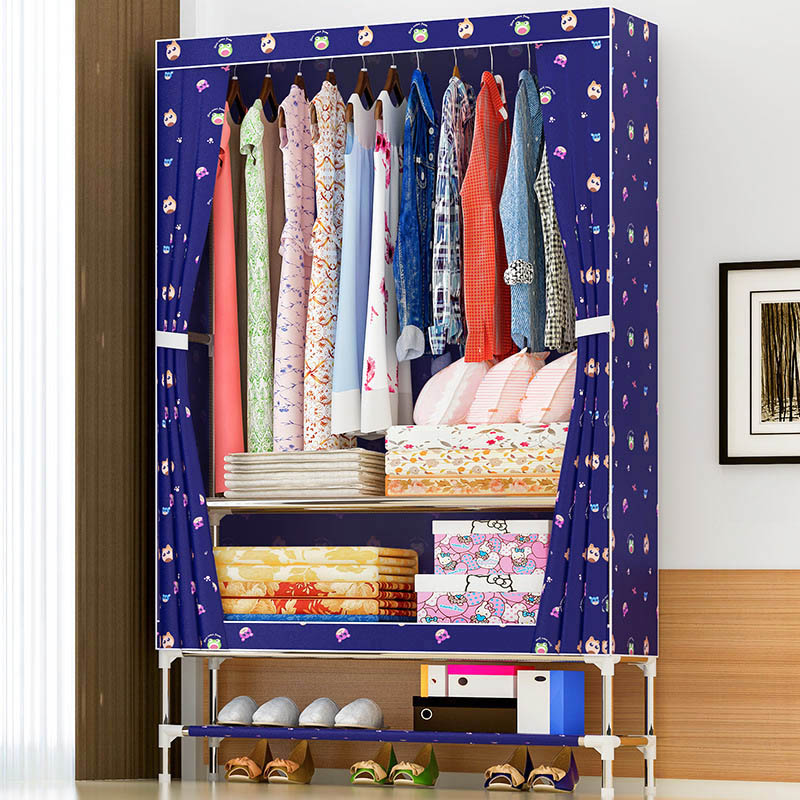 Beautiful simple wardrobe Oxford cloth dust-proof closet Moisture-proof storage cabinet multi-functional storage furniture yohere furniture non woven wardrobe clothe storage wardrobe simple portable closet new fashion sundries cabinet dust proof