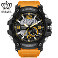 SMAEL Brand Men's Sport Watches Dual Display Watch Men Analog Digital LED Electronic Quartz Wrist Watches Male Relogio Masculino
