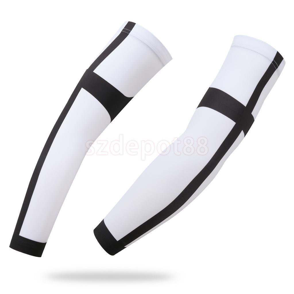 1 Pair Cycling Sleeves Cross Pattern Printed Armwarmer MTB Bike Bicycle Ridding Arm Warmer UV Protection Sleeves