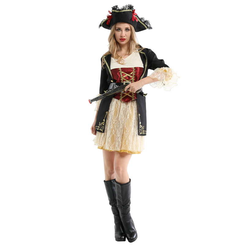 Ladies Pirates Buccaneer Halloween Costume 2