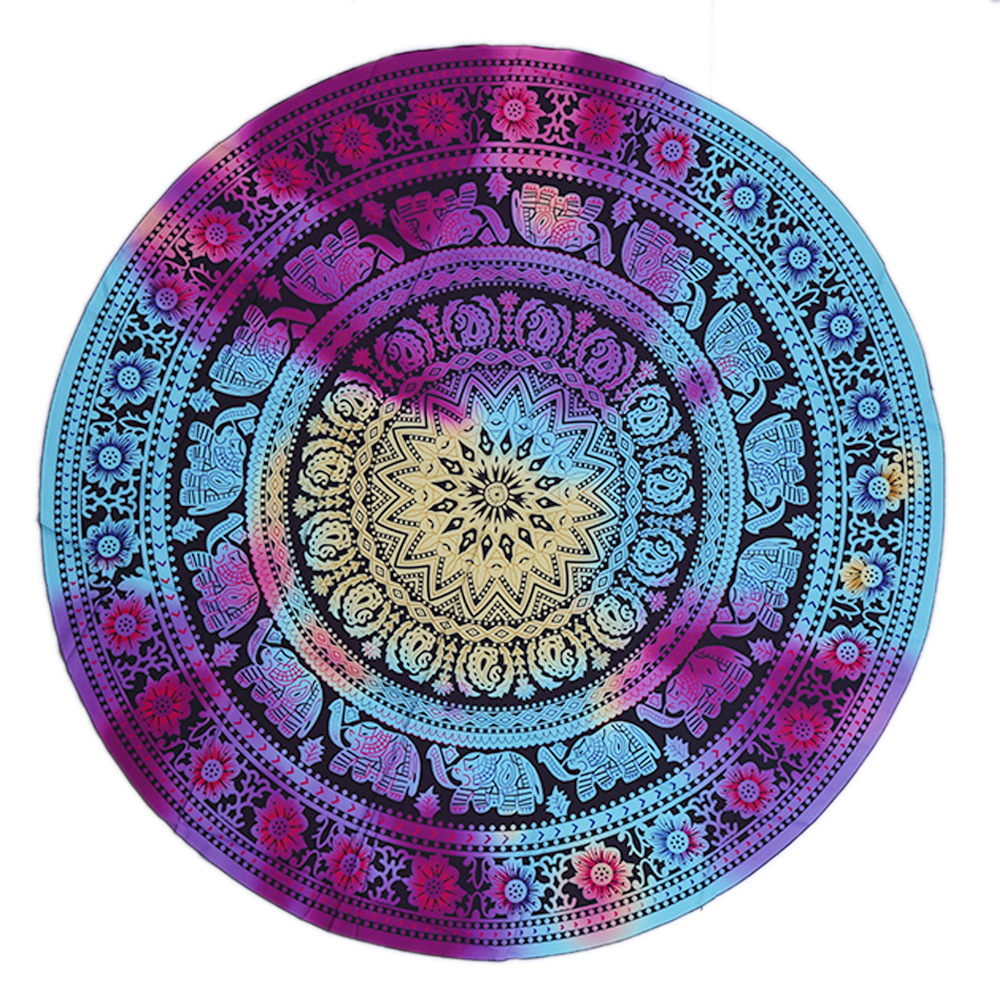 Psychedelic Mandala Hippie Bohemian Tapestries Wall Hanging Flower Psychedelic Tapestry Indian Dorm Decor for Living Room-in Tapestry from Home & Garden