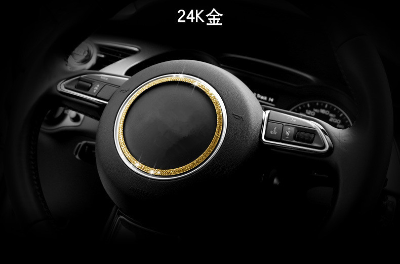 Car steering wheel decorative circle modified sequins sticker for Audi A3 A4L Q3 Q5 A5 A6L A7 S3 S5 S7 circle