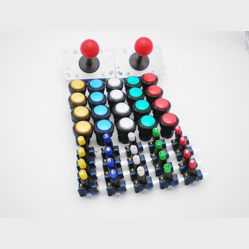"""""""Arcade MAME"""" """"DIY"""" rinkinys dvigubiems žaidėjams PC PS / 3 """"Arcade Joystck"""" LED mygtukas USB 2 grotuvas MAME USB į Jamma"""