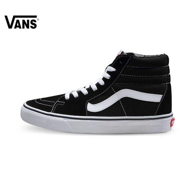 Original Vans Old Skool Shoes Classic Men Women High Tops Canvas Shoes  Skateboarding Shoes Sports Vintage Shoes SK8-Hi Sneakers b01f2559a4