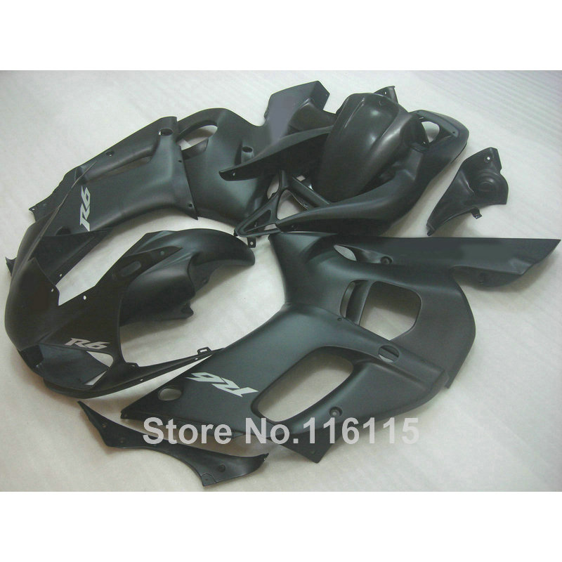 ABS fairing kit fit for YAMAHA R6 1998 1999 2000 2001 2002 YZF-R6 all matte black YZF R6 fairings set 98 99 00 01 02 NX14