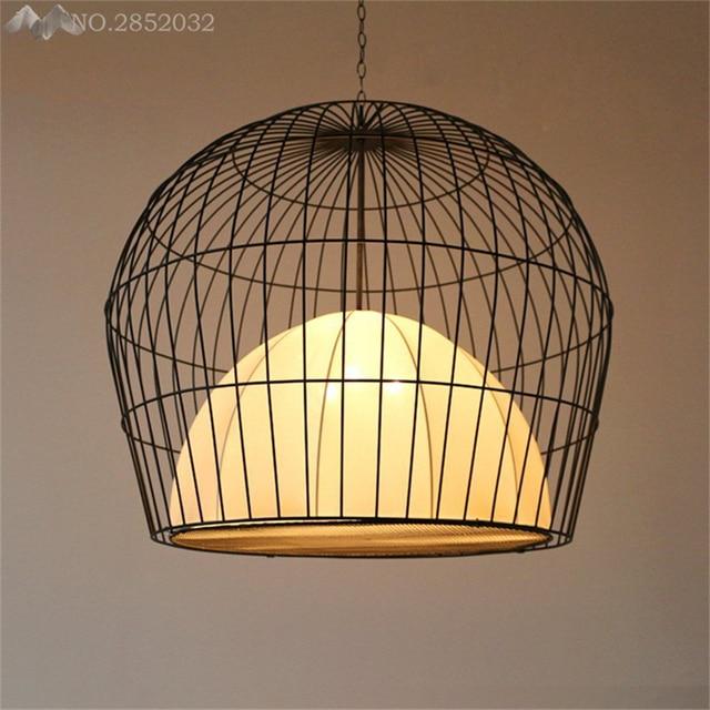 GDW Chinois Style Cage À Oiseaux Pendentif Lampe De Fer Pendentif ...