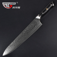VG10 Damascus Gyuto Japanese Chefs Knife 10.5Inch in (Western style Mahogany Handle) free shipping couteau cuisine
