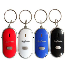 Wireless Whistle Key Finder Keychain For Women Men Anti-Lost Device Keyrings Electronic Anti-Theft Ellipse Plastic Key Search цена