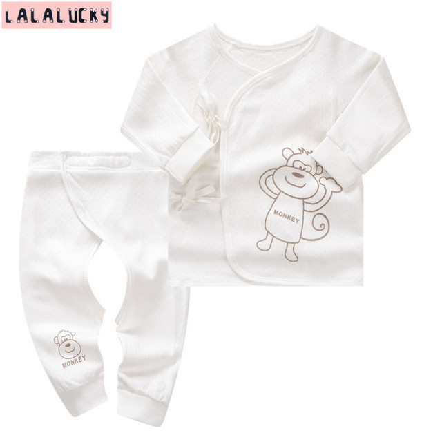 ad244288f LALALUCKY Newborn Baby clothing set boy and girl underwear baby s ...