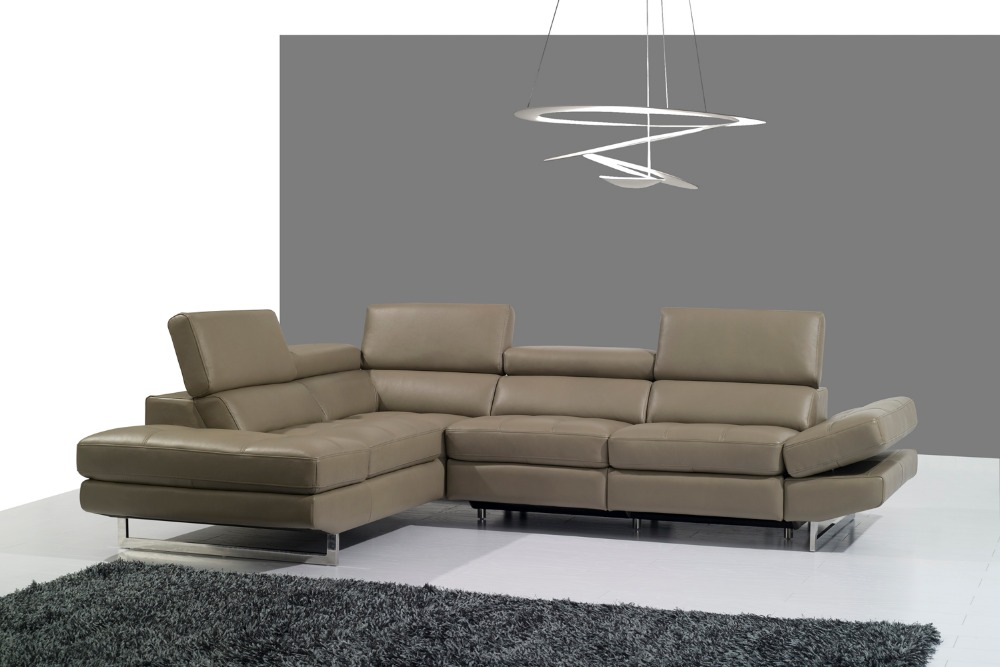 Genuine leather sofa set living room sofa sectional corner for Sectional sofa set up
