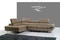 Lederen sofa set woonkamer sofa sectionele/hoekbank set meubelen couch/big size sectionele l vorm recliner