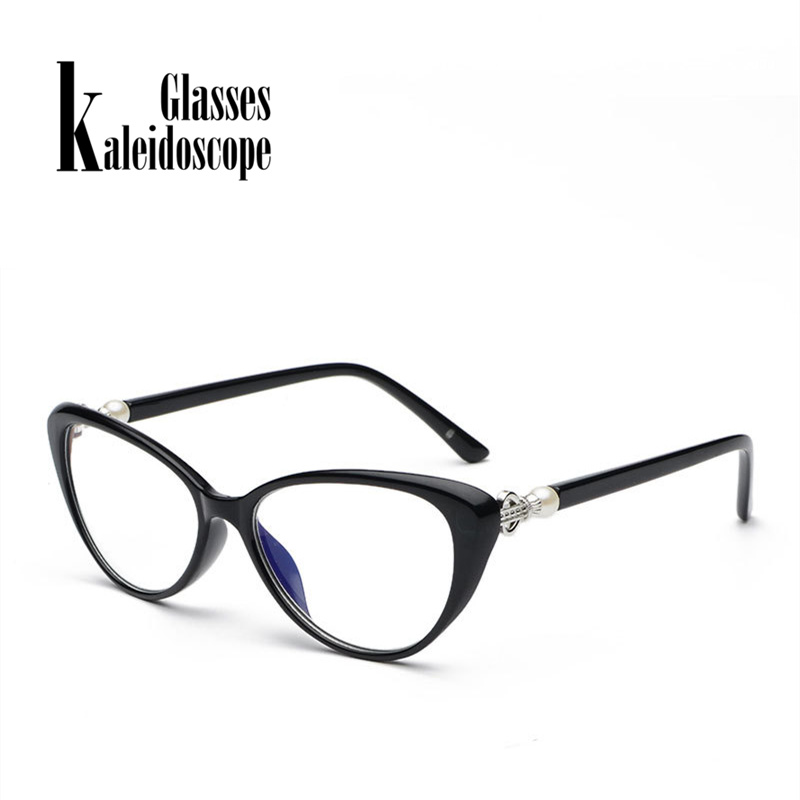 Kaleidoscope Glasses Fashion Cat Eye Reading Glasses Women Transparent Anti Blue Light Eyeglasses Hyperopia Spectacles 2.5 3.0
