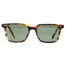 Фотография Imported Acetate square Vintage sunglasses EGA6501 women men polarized sunlens 100% UV400 protection original case free shipping