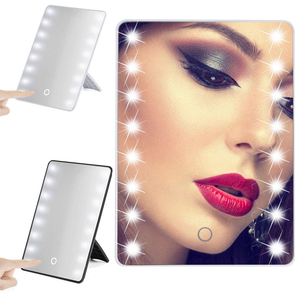 Frauen Und Kinder Sporting Tragbare 16 Leds Beleuchtete Touchscreen Make-up Tisch Kosmetik Spiegel Mit Beleuchtung Espelho Espejo De Maquillaje #9 Geeignet FüR MäNner Spiegel