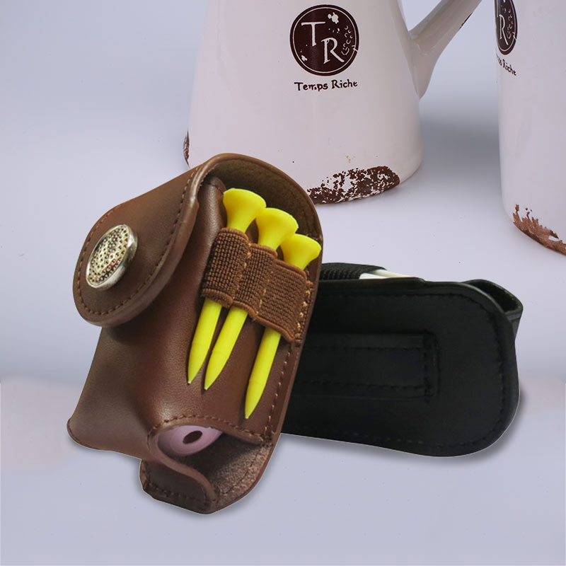 Leather Bag Waist Pouch Golf Ball
