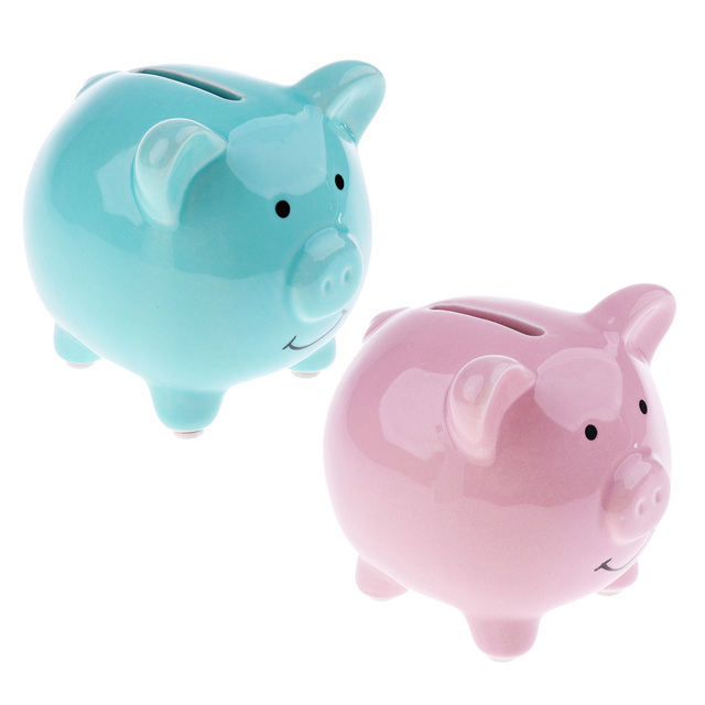 Enfants enfants tirelire tirelire économiser des pièces de monnaie argent amusant nouveauté cadeau danniversaire bébé chambre décoration de la maison en céramique cochon ensemble