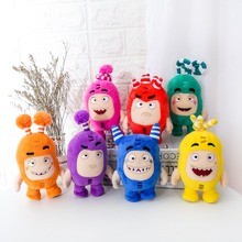 Free shipping  7 Colors lovely 17CM Oddbods cool Plush Toy Soft Stuffed plush Dolls for Children birthday Gift