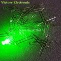 200 шт./лот 3 мм круглые зеленые светодиодные диоды, Сверхъяркие прозрачные светодиодные лампы зеленого цвета, Новинка