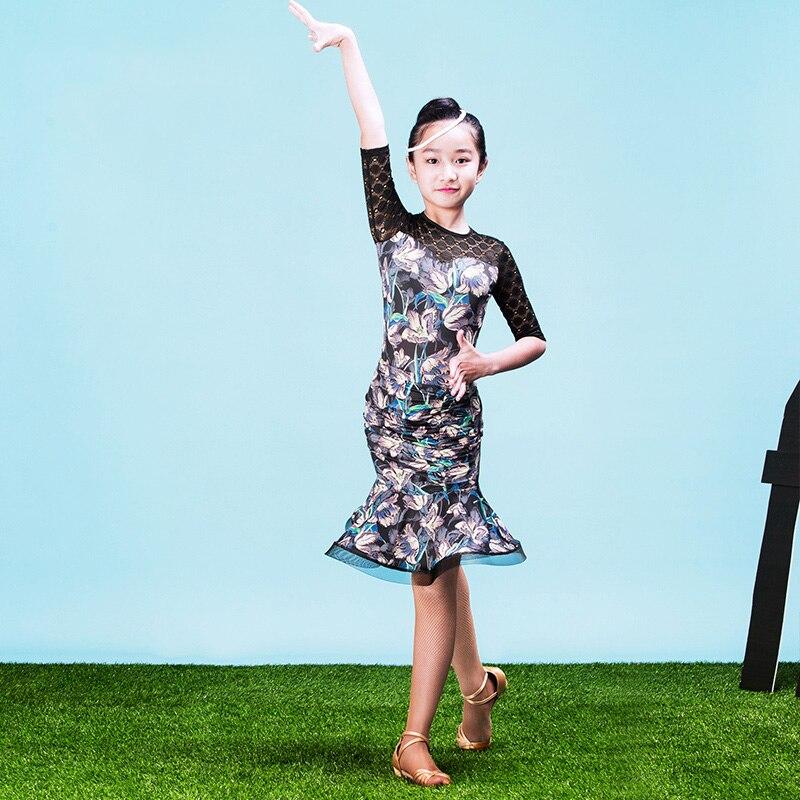 a1c584165cc1c Nouveau Mode mignon À Volants Placketing de danse Latine jupe courte pour  la petite fille enfants enfants