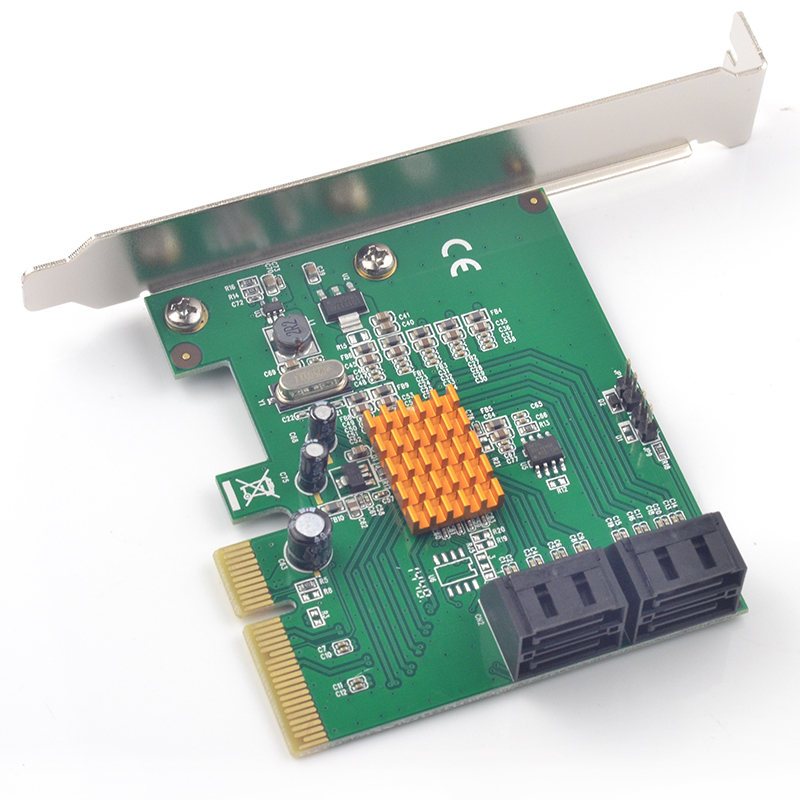 SATA Expansion Card 4 Port SATA PCIe Expansion Card PCI-e SATA 3.0 Adapter With Raid Marvell 88SE9230 For Over 3T HDD Or SSD