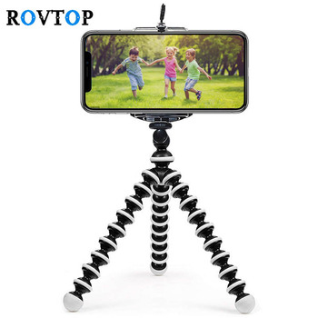 Rovtop Portable Mini Octopus Tripod Bracket Flexible Phone Holder Foldable Camera Smartphone Moblie Tripod for Gopro Camera Z2
