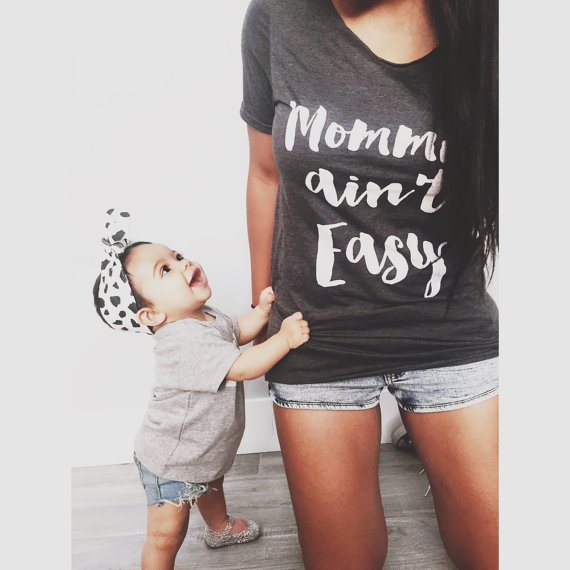 e6c7adc9f2 Detail Feedback Questions about Plus Size Mommin Ain't Easy Tshirt ...
