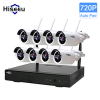 Hiseeu CCTV System 8ch HD Wireless NVR Kit Bullet 1 0MP IP Camera IR CUT CCTV