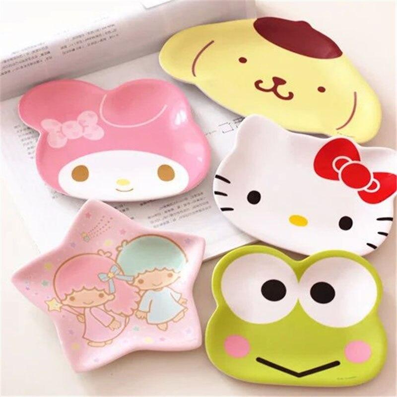 Cartoon Baby Melamine Plate For Girl Boy Children Dinner Cute Plate Kids Feeding Plate Children Gift