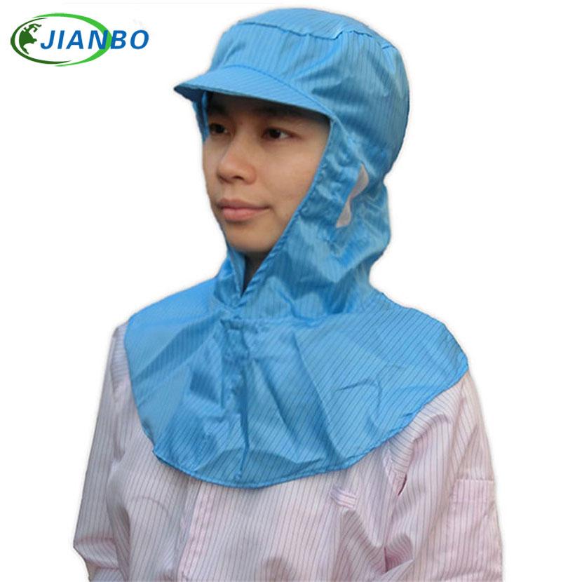 Anti Statik Koruma Toz Kafası Kapak Boyama Elektronik Gıda Fabrika Şapka Temiz Oda Atölye Laboratuvarı Koruyucu Şal Şapka