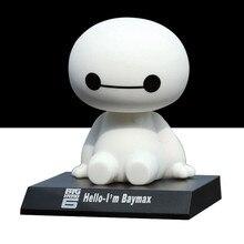 12 cm big hero 6 baymax toy action figure, Bonito dos desenhos animados Balançando A Cabeça do Robô Modelo Figura Baymax Brinquedos para Crianças/Presente de Natal(China (Mainland))