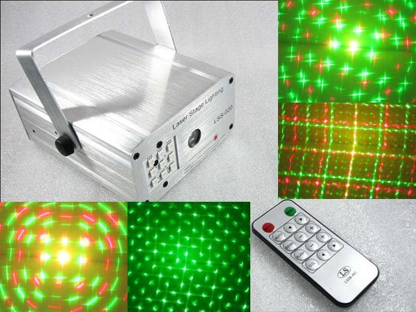 Mini Disco Light Party Green Red Laser Star Projector Stage Light Silvery Show Special Effects