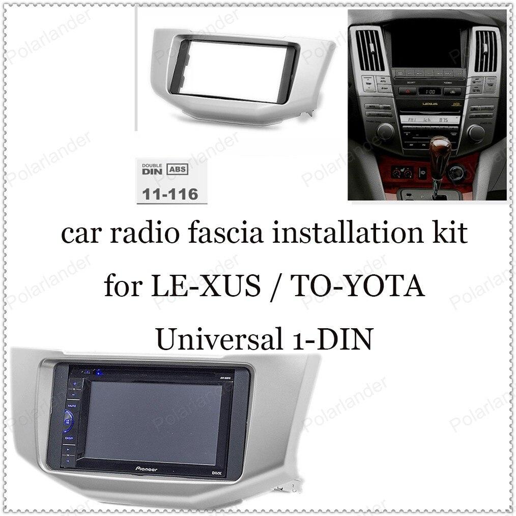 CD universele machine retrofit panel voor TO-YOTA Ha-rrier jaar 03-09 voor LE-XUS RX-300 jaar 03- 09 1-DIN ABS Plastic Radio Fascia