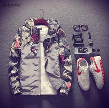 купить Laipelar jackets summer floral patchwork bomber jacket men anorak windbreaker collge jaqueta masculina rashguard по цене 1041.95 рублей