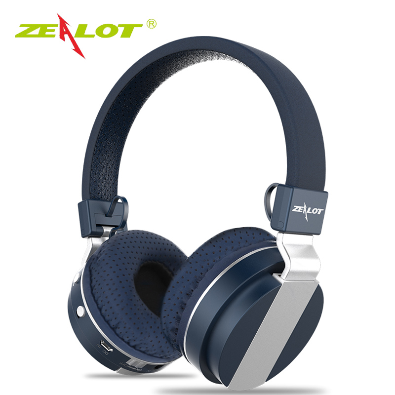 ZEALOT B17 Bluetooth Wired Wireless Headphone Super Bass Stereo Noise Cancelling Headset With Mic Earphone FM Radio TF Card Slot plufy bluetooth earphone headphone wireless speaker sport headphone bass stereo headset noise cancelling for iphone xiaomi l29