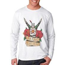 Hot Sale Mens T Shirts Fashion Tee Shirt Dark Souls Printed Cotton Long Sleeve O-Neck Tees Tops Men Tshirts Playeras De Hombre