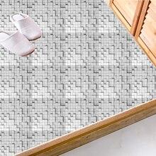20*20cm DIY Fake Tile Sticker Floor Stickers Anti-Slip Removable Self-Adhesive Waterproof Wall Sticker Modern Style Wall Sticker 20 20cm diy steel grain floor sticker anti slip removable self adhesive waterproof wall sticker industrial style tile sticker