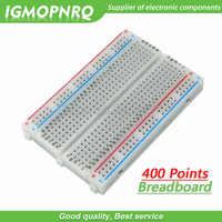 1 Uds 400 puntos soldadura placa Placa de prueba de PCB Junta 400 agujero 8,5*5,5 cm combinado de empalme placa experimental